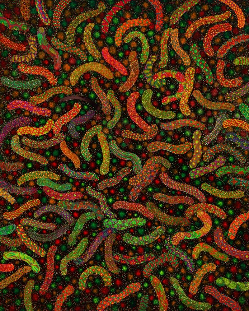 Writhing No.1 Acrylic on canvas, 162.1*130.3, 2008,